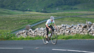 Cyclist in Yorkshire Dales