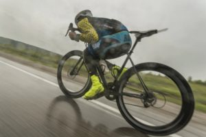 Cyclist on Trans Siberian Extreme