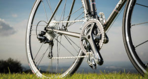 Campagnolo Gear System installed on a bicycle.