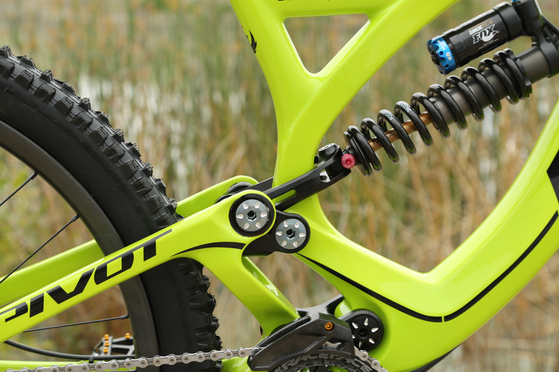 Bike with downhill suspension
