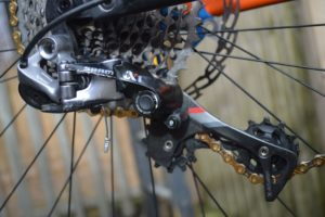 SRAM Gears on a bicycle.