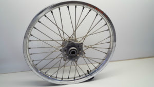 Bicyle rim without the tyre.