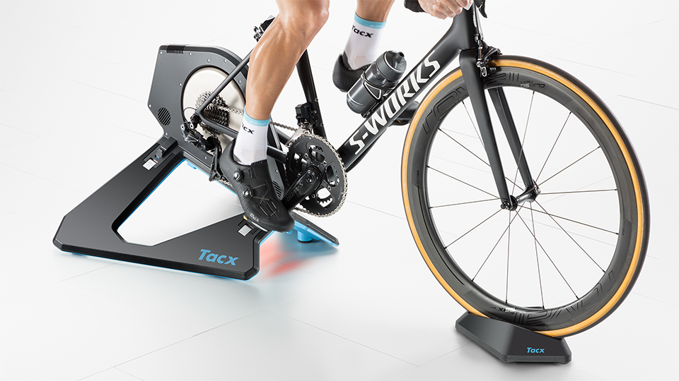 Cyclist on TACX Neo 2 Smart Direct Drive Turbo Trainer