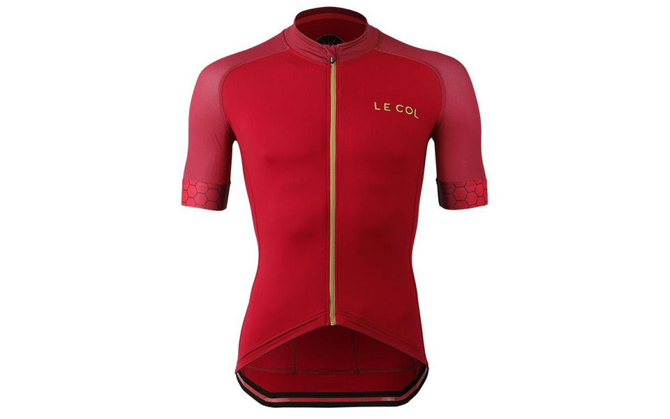 Le Col Pro red jersey.