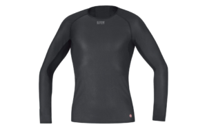Black Gore Windstopper Base Layer Long Sleeve