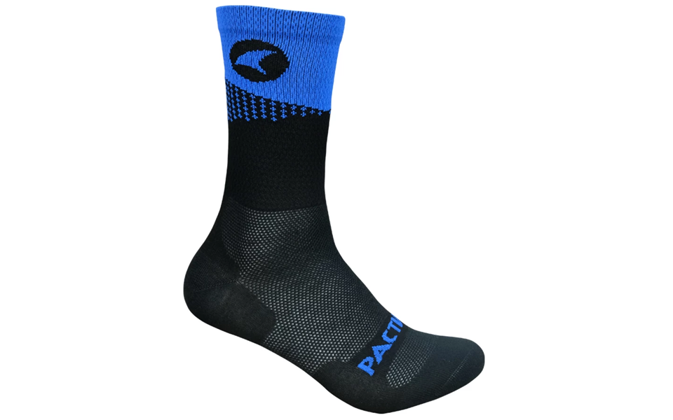 Black and blue Pactimo Summit Clymb sock