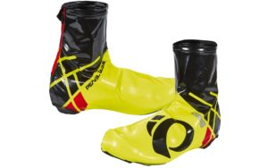 Black and yellow Pearl Izumi Pro Barrier Lite shoe covers