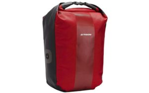 Red B'Twin Pannier Rack Backpack